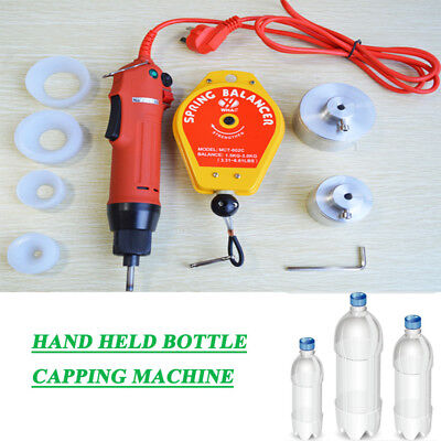 Electric Hand Held Bottle Capping Machine4 Silicon Rubber Padspring Balancer
