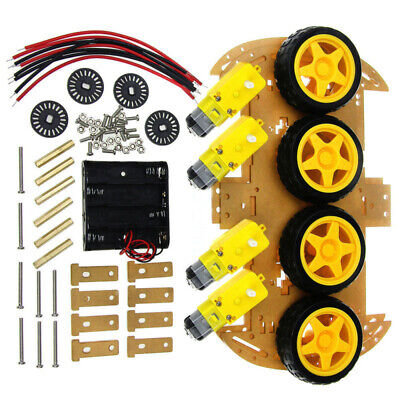 4wd Robots Smart Car Chassis Kit With Tachometer Speed Encoder For Arduino New