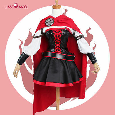 Ruby Rose Cosplay RWBY 3 Season Red Dress Cloak Battle Uniform Costume 2017 NEW](Red Cloak Costume)