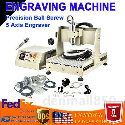 Usb 5 Axis 3040t Cnc Router Engraver 3d Wood Milling Cutting Machine 800w Vfd Ce