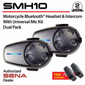 Sena SMH10D-11 Motorcycle Bluetooth Headset/Intercom with Univer