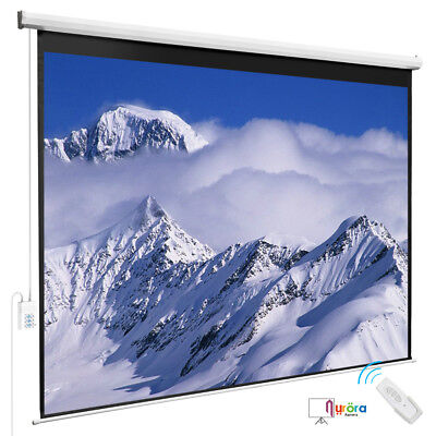 Portable 100'' 4:3 Projection Screen HD Movie Matte White with Remote Control