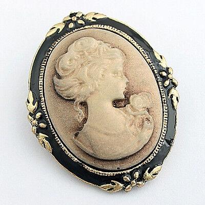 Women's Vintage Cameo Elegant Brooch Pin Antique  Wedding Portrait Brooch PinLAC Antique Womens Brooch