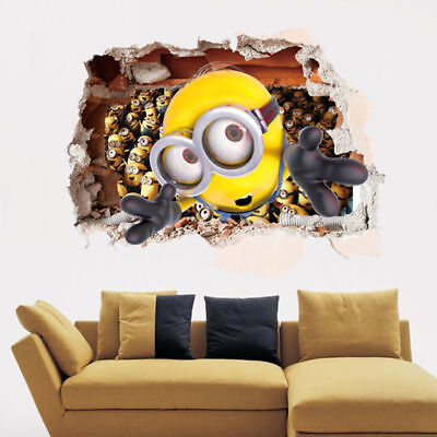 Minions face NON LICENSED Removable Wall Sticker Art Decal Kids Room Home Decor