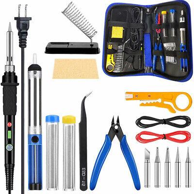 110V 60W Soldering Iron Kit Weller Tool Adjustable Temperatu