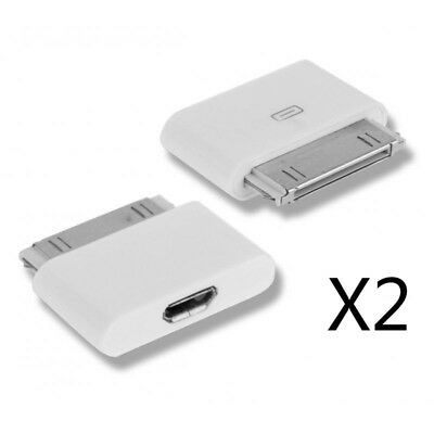 2X Micro Usb Adapter auf 30 Pin Connector Neu für iPhone 4 4s 3 ipad ipod 4s Ipad 2