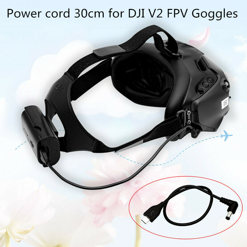V2 Flying Glasses Power Supply Line of DJI FPV Combo RC Drone Accessories 30CM