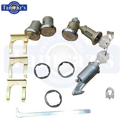 66 Bel Air Impala Ignition Door Glove & Trunk Lock Kit Original Key Style 431 Bel Air Ignition Door Trunk
