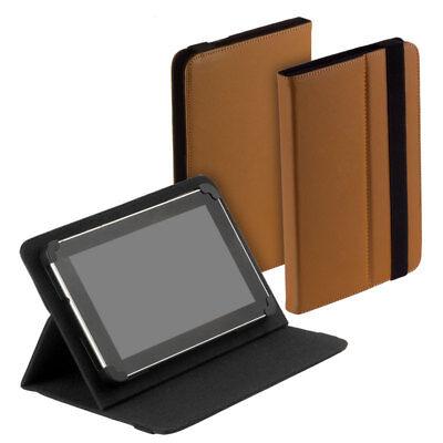 Gebraucht, Book Style Tasche braun f i.onik TP7-1000DC Case Aufstellfunktion gebraucht kaufen  Deutschland