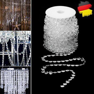 30M Kristall Girlande Deko Hochzeit Türvorhang Perlen Glas Acryl Kristall Deko