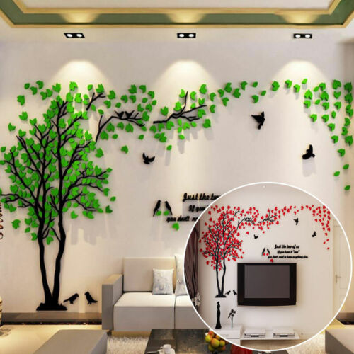Home Decoration - 3D Large Tree Arcylic Wall Sticker Room Decal Mural Art DIY Home Wall Decor UK