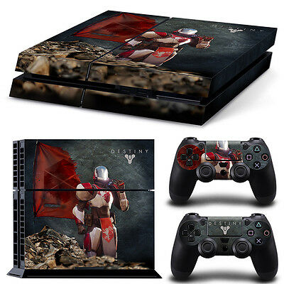 Ps4 Playstation 4 Console Skin Decal Sticker Destiny   2 Controller Design Set