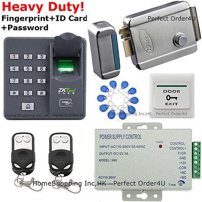 Fingerprint+RFID Card And Password Door Access Control System+Electric Door Lock