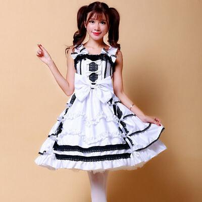 Lady Girl Lolita Princess Dress Lace Ruffle Japan Party Cosplay Costume Harajuku