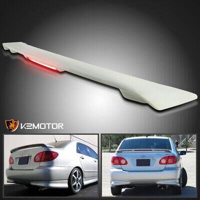 For 03-08 Toyota Corolla ABS Factory Rear Trunk Spoiler Wing+LED Brake Light