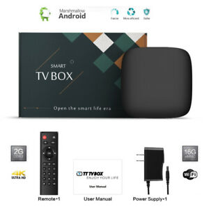 Android TV Box 4K HD IPTV ►FTA Satellite ►16GB FREE SHOWS APPS