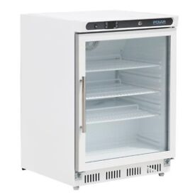 Polar CD086 150Ltr Glass Door Display Fridge
