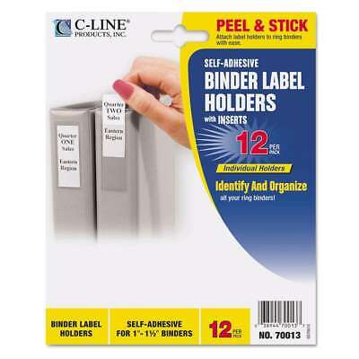 C-line Self-adhesive Ring Binder Label Holders Top Load 34 X 038944700137