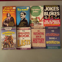 8 books total, 4 joke books + 4 Armchair Digest series books