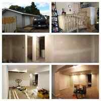 SHC! garage construction , basement reno, framing, drywall, ....