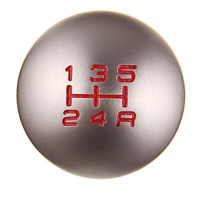 - Manual Gear Shift Knob Shifter MT Handle Type Aluminum 5 Speed Silvery Fit Honda