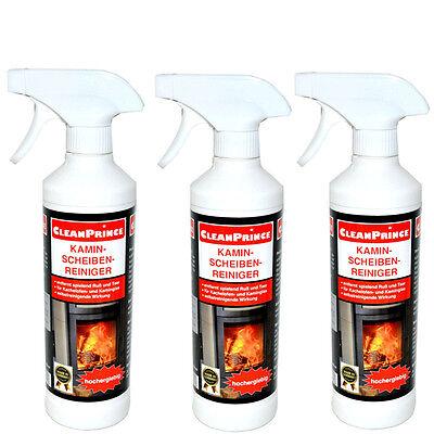 Detergente per camino PULITORE DI FORNO 3 PEZZI À 500 ml PORTA vetro fuliggine