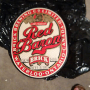 Red Baron Wooden beer sign
