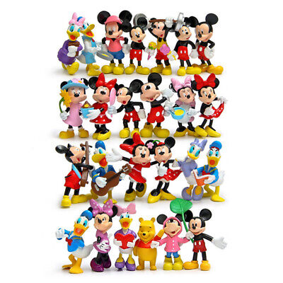 25pcs/set Mickey Mouse & Friends Figures Clubhouse Collectible Toy Gift 7-8CM