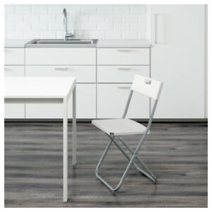 IKEA GUNDE Folding chair (white) 15 available