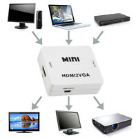 Mini 1080P Audio VGA to HDMI HD HDTV Video for PC Laptop Adapter