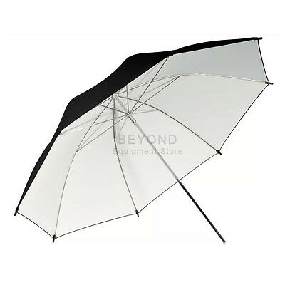 "40"" Black White Reflective Umbrella For Photography Light Studio Lighting Kit"