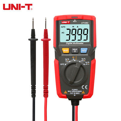 Uni-t Ut125c Pocket Digital Multimeter Acdc Voltmeter Ammeter Ohmmeter 1m Drop