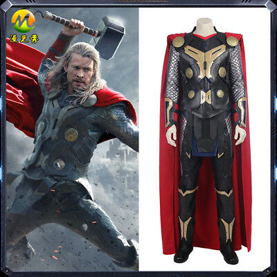 Thor 2 Cosplay costume Superhero Thor costumes Halloween fancy outfit for men](2 Man Halloween Costumes)