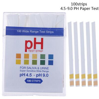 100ph Indicator 4.5-9.0 Test Strips Paper Litmus Tester Laboratory Urine Gf