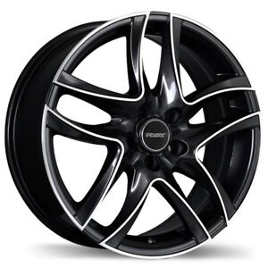 "16"" set of 4 Black Spyder Rims by Fast"