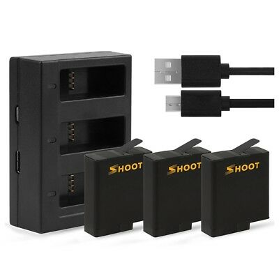 SHOOT Battery USB Charger for GoPro HERO 6/ HERO 5 Black Accessories D7N6