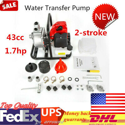 8000lh 2 Stroke Petrol Drainage Irrigation Pond Water Transfer Pump 1 In 43cc