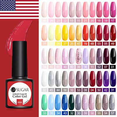 UR SUGAR 7.5ml  UV Gel Nail Polish Soak Off Gel Varnish Glitter Nail Art