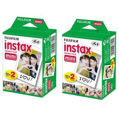 40 Prints Fuji Instax Mini Instant Film for Fujifilm 9-8 and Polaroid 300 Camera
