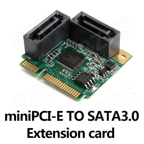 Mini PCI-Express to 2 Ports SATA 3.0 III 6Gb/s Expansion Card Single Chip 1 pcs