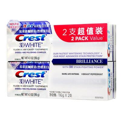 Crest 3D White Fluoride Anticavity Toothpaste Whitening Solder Paste 116g *2 (Crest Whitening Fluoride Anticavity Toothpaste)