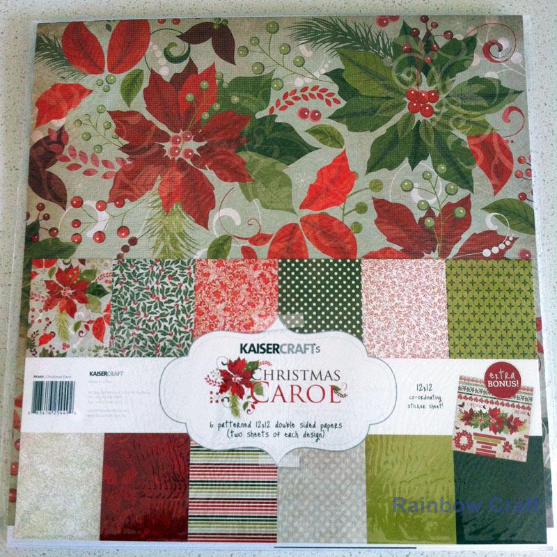 Kaisercraft Paper Pack Bonus Sticker Sheet Christmas Carol Secret garden - Christmas Carol