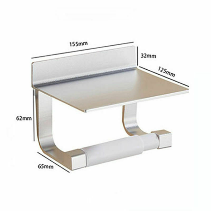 Toilettenpapierhalter ohne bohren mit Ablage Klopapierhalter Klorollenhalter DE