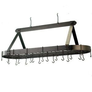 Oval Pot Rack With Grid And 24 Hooks *NEW*