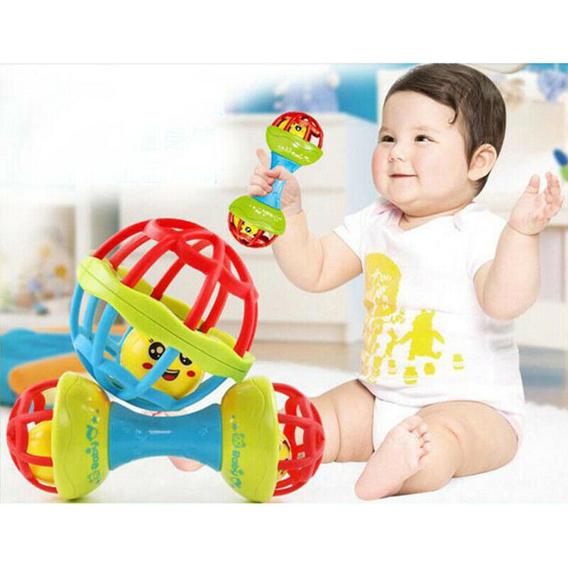 Baby Hand Ball Environmental Tooth Rubber Rattles Toy Baby T