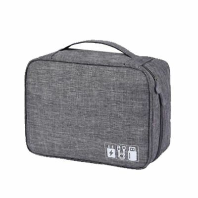 Polyester Men Travel Electronic Accessories Travel Bag Organizer Date SD Card