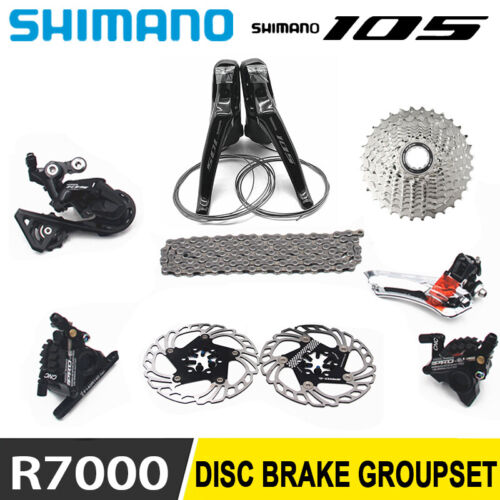 SHIMANO 105 R7000 Groupset Front Derailleur Shifter IIIPRO Hydraulic Disc Brake