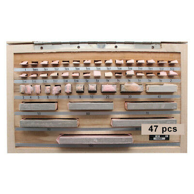Carnon Steel Gage Block Set 47 Pieces Precision Johansson Slip Jo Blocks