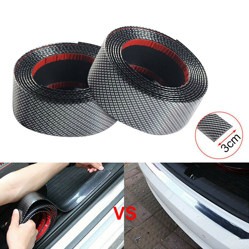 Car Parts - Cars Carbon Fiber Rubber Edge Guard Strip DIY Doors Sill Protector Parts 3CMx1M