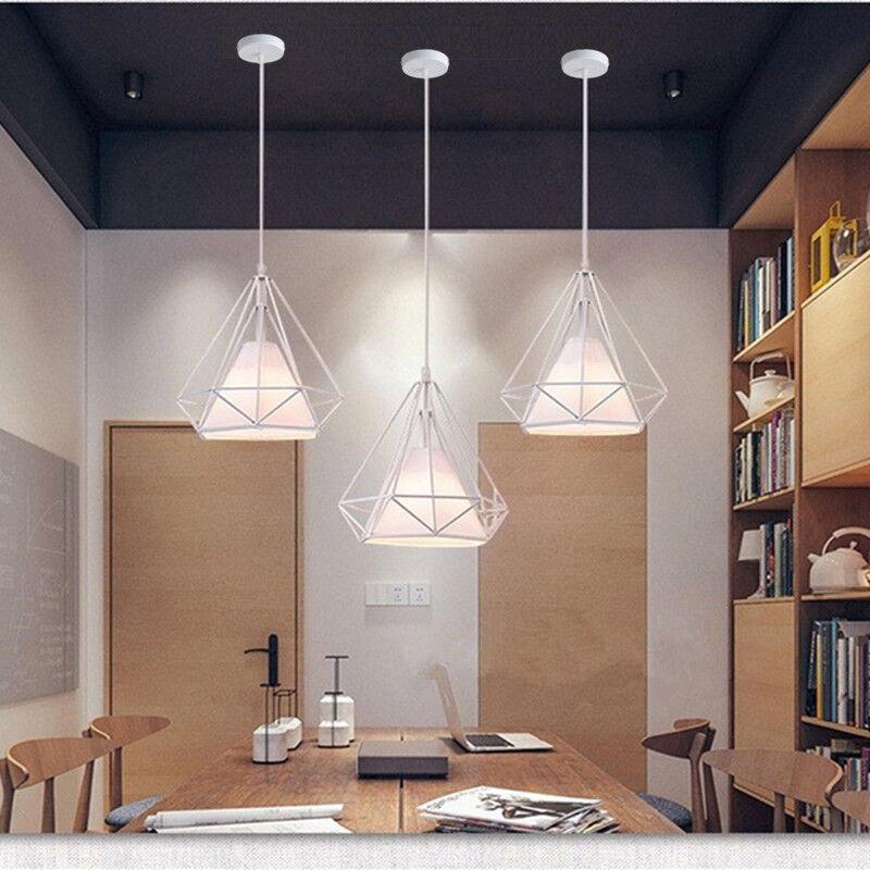 Details about Kitchen Pendant Lighting Bedroom Lamp Modern Ceiling Light  White Pendant Light